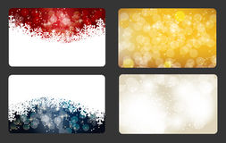 Set of vector christmas / New Year banners (cards) Royalty Free Stock Photography