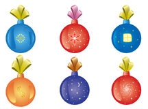 Set of vector christmas-tree decoration. Set of christmas-tree vector decoration vector illustration