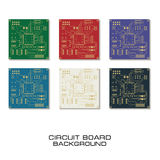 Set of vector circuit board design. Set of circuit board PCB background Stock Photography