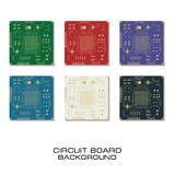 Set of vector circuit board design. Set of circuit board PCB background Royalty Free Stock Photo