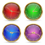 Set of vector clocks icon Stock Images