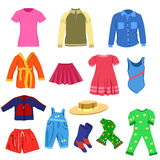 Set of vector clothes Stock Photos
