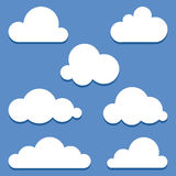 Set of vector clouds Royalty Free Stock Image