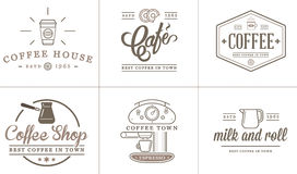 Set of Vector Coffee Elements Royalty Free Stock Images