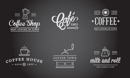 Set of Vector Coffee Elements Royalty Free Stock Photo