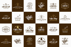 Set of Vector Coffee Elements and Coffee Accessories Royalty Free Stock Image