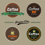Set of Vector Coffee Elements logo and label in vintage style Stock Photography