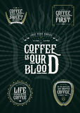 Set of Vector Coffee Elements and  Quotes Illustration can be used as Logo or Icon in premium quality Stock Photography