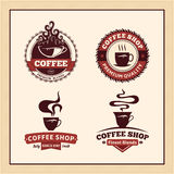 Set of Vector Coffee Shop Labels, Icons and Design Elements Royalty Free Stock Image