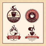 Set of Vector Coffee Shop Labels, Icons and Design Elements Stock Photos