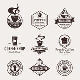 Set of Vector Coffee Shop Labels, Icons and Design Elements Stock Photo