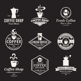 Set of Vector Coffee Shop Labels, Icons and Design Elements Royalty Free Stock Photography