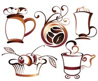 SET of Vector coffee,tea elements Stock Photo