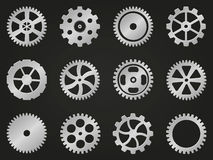 Cogwheels (gear wheels) of different design. Royalty Free Stock Photo