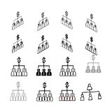 Set of vector Collection modern vector. People Chart multi type royalty free illustration