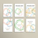 Set vector color line twirl round design Royalty Free Stock Photography