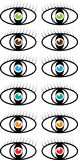 Set of vector colored eye symbols Royalty Free Stock Photos