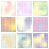 Set of colored halftone textures Stock Photography