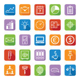 Set of vector colored icons a business and office Royalty Free Stock Photo