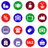 Set of vector colored icons Royalty Free Stock Images