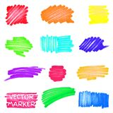 Set of vector colored marker spots Royalty Free Stock Photography