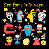 Set vector colored monsters Royalty Free Stock Photography