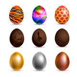 Set of vector colored painted eggs for Easter Royalty Free Stock Photos