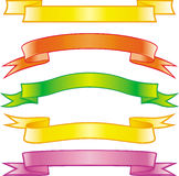 Set of vector colored ribbons Royalty Free Stock Photo