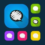 Set of vector colored speech bubbles eps Stock Photography