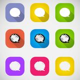 Set of vector colored speech bubbles eps Stock Images