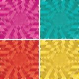 Set of vector colorful Abstract triangle backgroun Royalty Free Stock Images