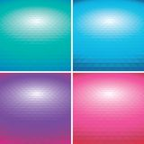 Set of vector colorful Abstract triangle backgroun. Ds Stock Image