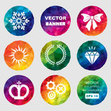 Set of vector colorful banners Royalty Free Stock Photos
