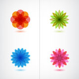 Set of vector colorful flower icons Royalty Free Stock Photography