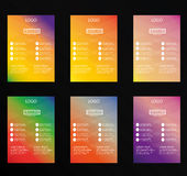Set of vector colorful flyer design Royalty Free Stock Photo