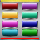 Colorful buttons vector set Royalty Free Stock Photos