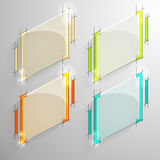 Set of vector colorful lozenge glossy banner Stock Photo