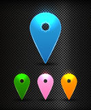 Set of Vector colorful Map Pins Pointer. User interface map marker, eps 10 Stock Image