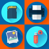 Set vector computer icons of photo print Stock Image