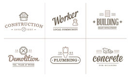 Set of Vector Construction Building Icons Home and Repair can be used as Logo Stock Photography
