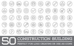 Set of Vector Construction Building Icons Stock Photos