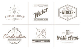 Set of Vector Construction Building Icons Home and Repair can be used as Logo Royalty Free Stock Photography