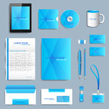 Set of vector corporate identity template. Modern business design Stock Images