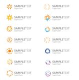 Set of vector corporate logo symbols Stock Photos