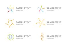 Set of vector corporate star logo symbols Royalty Free Stock Photos