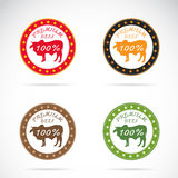 Set of vector cow label Royalty Free Stock Images