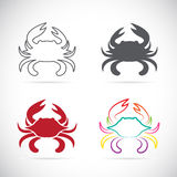 Set of vector crab icons Royalty Free Stock Photography