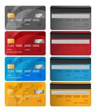 Set of Vector Credit Card two sides. Credit card vector illustration. Business Solution. EPS 10 Royalty Free Stock Photography
