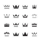 Set of vector crowns and icons Stock Images