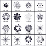 Set of vector, crystal objects Stock Photos